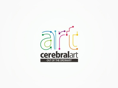 CerebralArt advertising agency logo design redesign rebranding advertising agency brand manual logo guidelines creative colorful logo design logo design logo designer logotype type typography typographic brand identity branding advertising agency design studio logo mark logo redesign studio art cerebral dots connections connecting paths