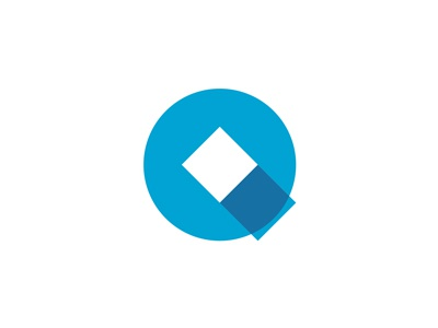 Q letter mark: circle + squares / logo design symbol by ...