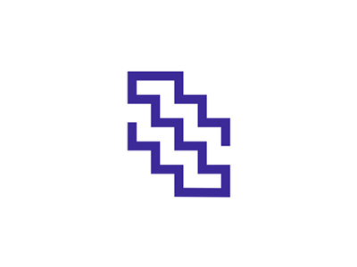 S + stairs, letter mark / logo design symbol logo logo design letter mark monogram symbol icon stairs interior design homes houses mobile apps s labyrinth
