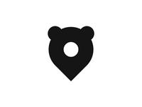 Bear pin pointer, logo design mark