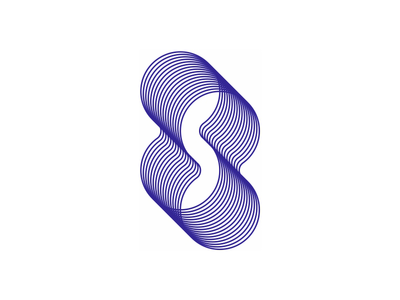 S in negative space, infinity shapes, blends, logo design symbol