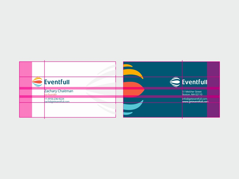 Eventfull identity design by alex tass   business cards