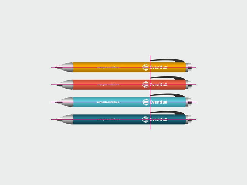 Eventfull identity design by alex tass   pens   pencils