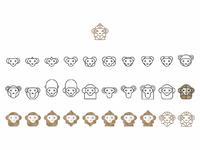 Drawing a monkey logo design symbol  30 variations by alex tass