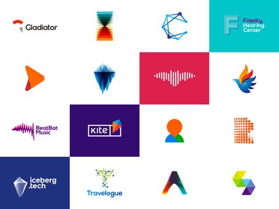 2016 most popular dribbble shots / logos
