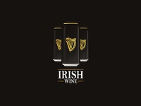 Irish 'Wine', experimental logo design