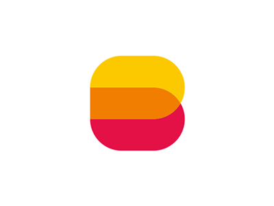 B letter mark / DB monogram / logo design symbol colorful b db letter mark monogram logo logo design vector icon mark symbol flat 2d geometric