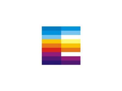 e letter mark events schedule calendar template logo icon by alex