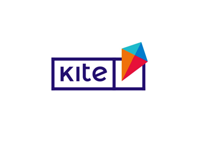 Kite, e-learning platform logo design classes courses online elearning kiting kite kites e-learning platform educational logo logo design projects challenges kids students youngs colorful vector icon mark symbol flat 2d geometric education