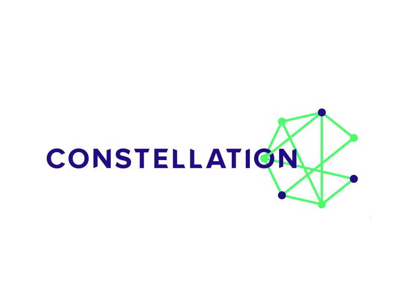 Constellation  digital marketing innovation agency logo design by alex tass