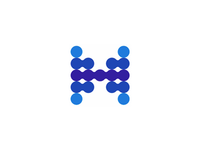 H, heath data, letter mark logo design symbol