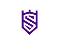S in shield / crest, crown, castle, modern heraldic logo design