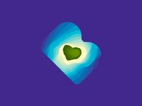 BM monogram, island, sea waves, Maldives travel agency logo mark