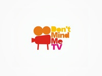 Don't mind me TV video production logo design