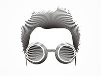 215 Labs think-tank logo design portrait / symbol