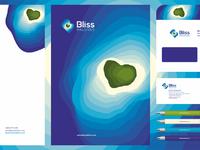 Bliss maldives stationery design by alex tass