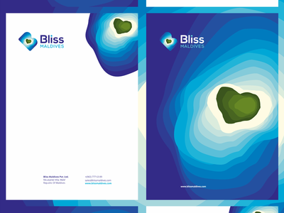 Bliss Maldives, travel agency stationery design - A4 letterhead