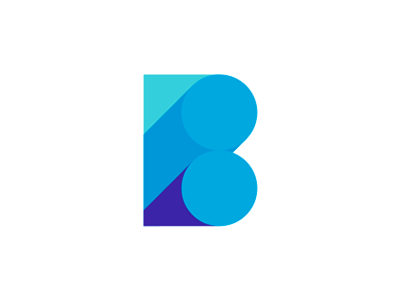 blue b letter mark / logo design symbol by alex tass, logo