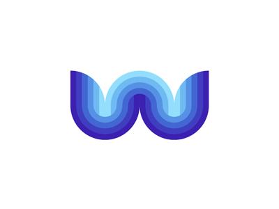 W Water / Waves, letter mark / logo design symbol flowing watergate flat 2d geometric vector icon mark symbol logo design logo sea ocean waves water letter mark monogram w