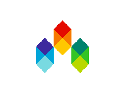 Exceptional M Mosaic Modular Homes Colorful Logo Design By Alex Tass Part 32
