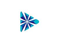 Play / Explode, logo design symbol