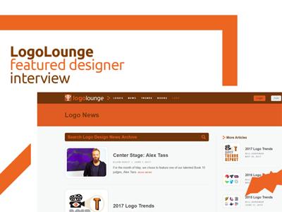 LogoLounge featured designer interview