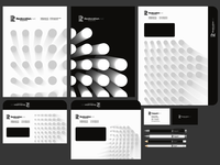 Realocation, luxury homes logo, stationery, identity design
