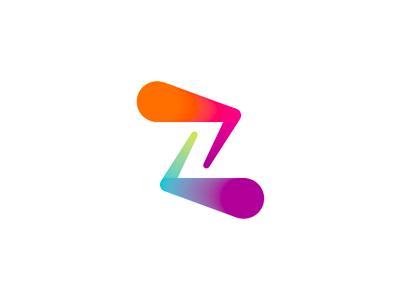 z double z zz letter mark monogram logo design