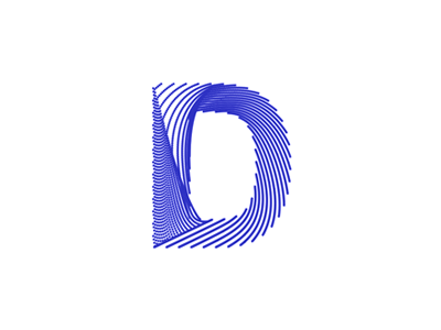 Letter D + lines / paths, logo design symbol blend particles circles points dots flat 2d geometric vector icon mark symbol logo design logo d letter mark monogram paths lines