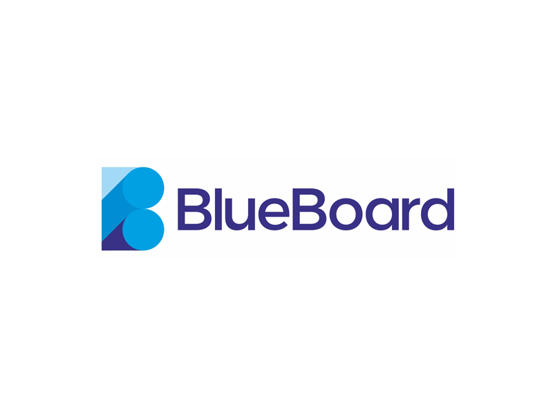 Blueboard business intelligence tool logo design by alex for Logo drawing tool