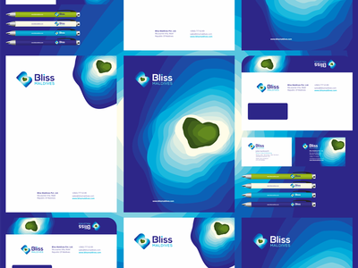 Bliss Maldives, travel agency identity design