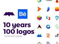 10 Years, 100 Logos, selected works on Behance
