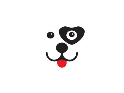 Smiling Puppy Dog Heart Logo Design Symbol By Alex Tass Logo
