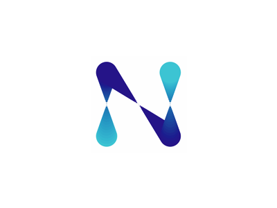 N letter mark, server monitoring system logo design symbol network communications connections communication connection letter mark monogram n client cloud application servers nodes statistics alerts notifications logo logo design vector icon mark symbol flat 2d geometric server monitoring system