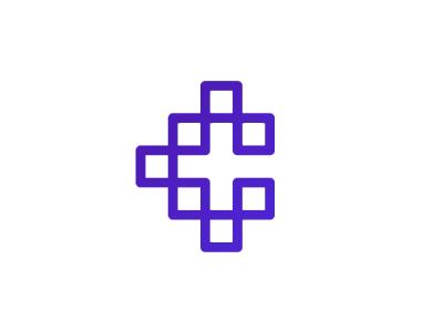 C Cryptocurrency Blockchain Letter Mark Logo Design Symbol By