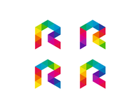 Rrrr, coloRful letteR maRk, logo design symbol
