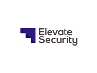 Elevate Security, stairs / stealth aircraft, logo design