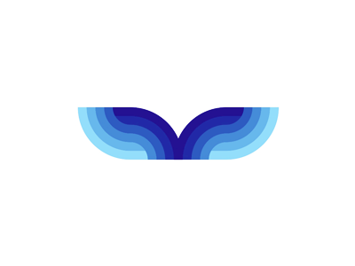 Whale tail sea waves logo design symbol by alex tass for Design lago