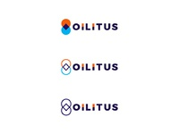 Oilitus gas station pin pointer drop symmetry logo design by alex tass
