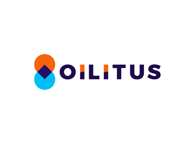 Oilitus, pin pointer + drop, gas station logo design