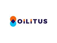 Oilitus, pin pointer + drop, gas station logo design