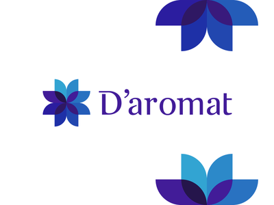 D'aromat, aroma & fragrance logo design c u letter mark monogram ad da a d aroma fragrance perfumes flower abstract monogram logo logo design vector icon mark symbol flat 2d geometric beauty fashion