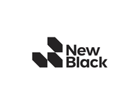 New Black, entertainment company, NB monogram / logo design