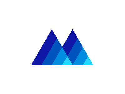 Letter M, Mountain, Mindfulness, letter mark / logo design ma a am m mountain mind mental mindfulness letter mark monogram logo logo design vector icon mark symbol flat 2d geometric