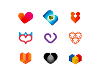 Hearts logo design symbols collection, volume 2