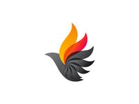 Phoenix bird logo design symbol