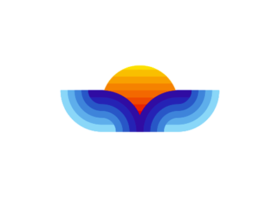 Whale tail / sea waves / sun, sunset, logo design symbol animals whale tail sea waves nature wild life logo logo design vector icon mark symbol flat 2d geometric blue water sun sunset