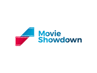 Movie Showdown logo design: twisted film strip + S letter