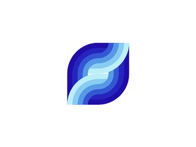 S letter, sea, waves, logo design mark letter mark monogram s logo logo design vector icon mark symbol flat 2d geometric sea waves deep blue ocean water