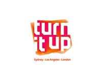 Turn it up, music management logo design, #tbt